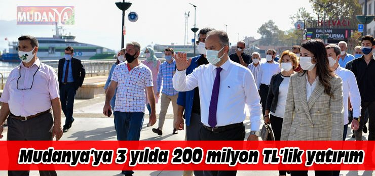 Büyükşehir'in Mudanya'ya yaptığı yatırımlar 200 milyon lirayı aştı