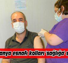 Mudanya esnafı kolları 'sağlığa' sıvadı