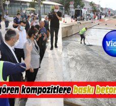 Mudanya sahilindeki kompozit kaplamalara Büyükşehir'den 'baskı beton' çözümü