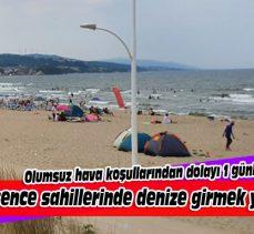 Mudanya'da Eşkel sahillerinde denize girmek yasaklandı!