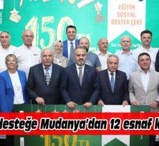 Mudanya'dan 12 kırtasiye esnafı Bursa'ya 'tam destek' verdi