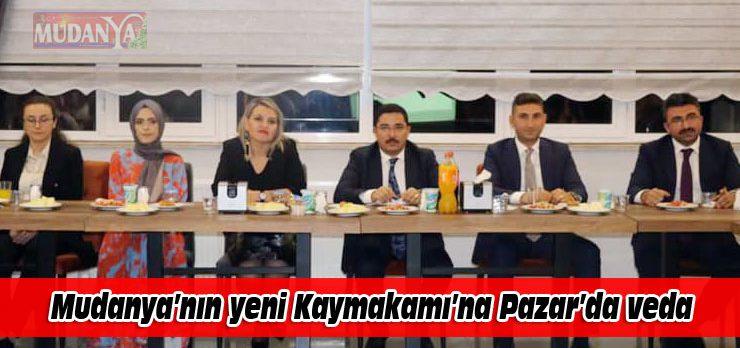 Mudanya'nın yeni Kaymakamı'na Pazar'da veda yemeği