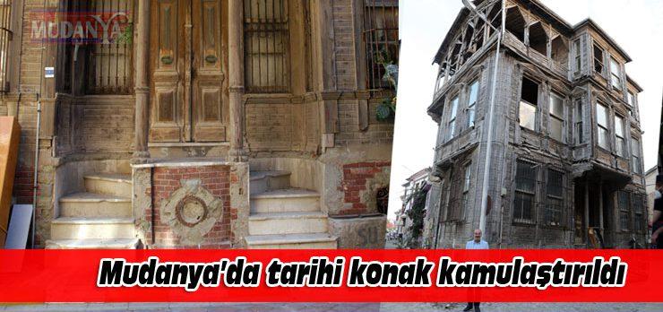 Mudanya'da tarihi konak kamulaştırıldı
