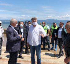 Bursa'da sağanak yağış mağduru Tirilye'de temizlik sonrası BUSKİ ziyareti